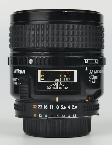Lens Distance Window and Aperture Ring