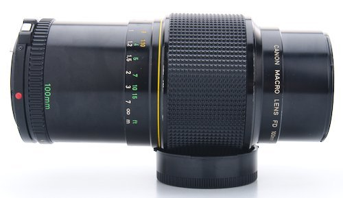 Lens Extended to Closest Focusing Distance, 1:2 Magnification.