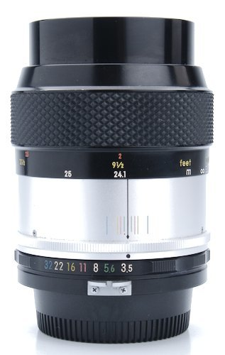 Lens Barrel Showing Aperture Ring, Focus Ring, and Distance Scale