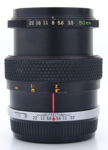Focus Distance, Aperture Ring, and Distance Scale.