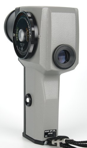 Back quarter of the spot meter showing View Finder and EV Scale