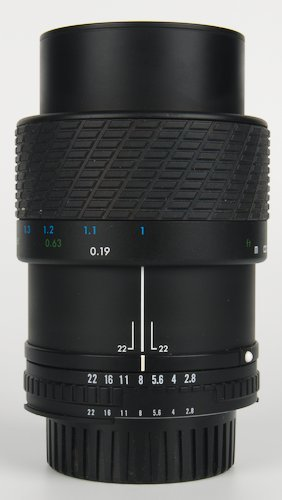 Lens Extended to Life Size 1:1 Magnification.