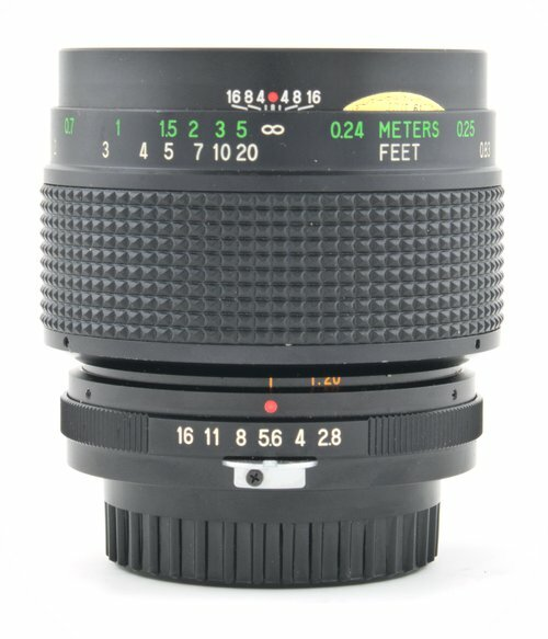 Vivitar 55mm f/2.8 Macro Focus & Aperture Rings