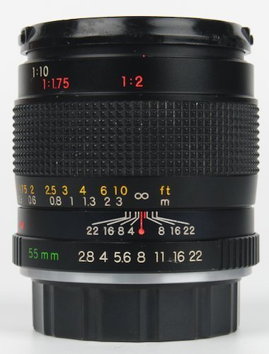 Focus Ring, Aperture Ring, and Focus Distance Scale.
