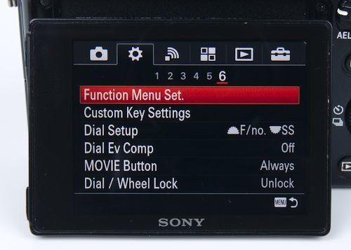 Assigning custom buttons and function menu
