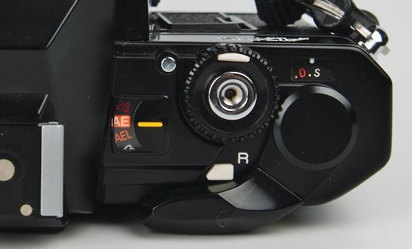 AE AEL Modes, Shutter Button, and Film Advance Lever