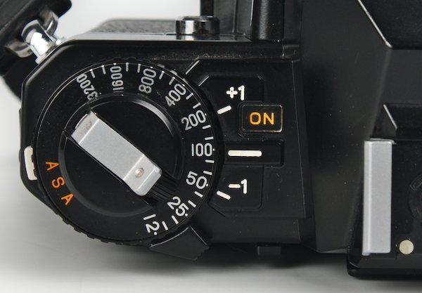 On Off Self-Timer Switch, ASA Selector, and Exposure Compensation