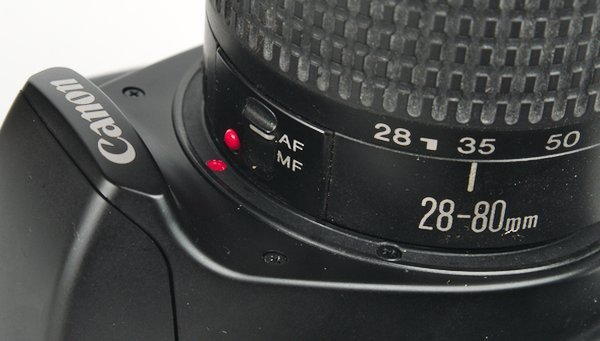 Red Dot Shows Correct Position on the Canon Rebel G Lens Mount