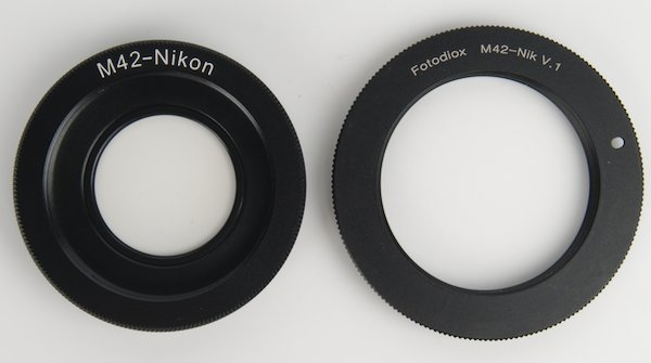 M42 to Nikon F Lens Mount Adapters