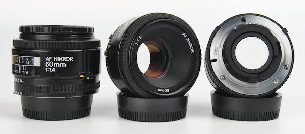 Nikon Series D AF Lenses 50mm and 24mm