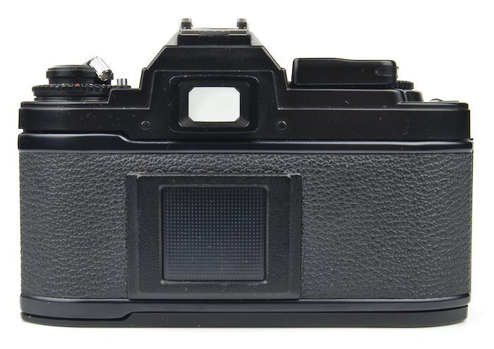 Camera back showing the viewfinder