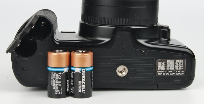 CR123A Camera Batteries and Tripod Mount
