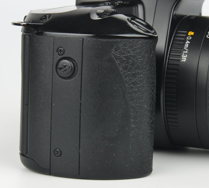 Clean Camera Grip with Shutter Button and Remote Cable Release