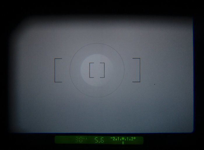 Camera Viewfinder showing Shutter Speed, Aperture, and Exposure Compensation.