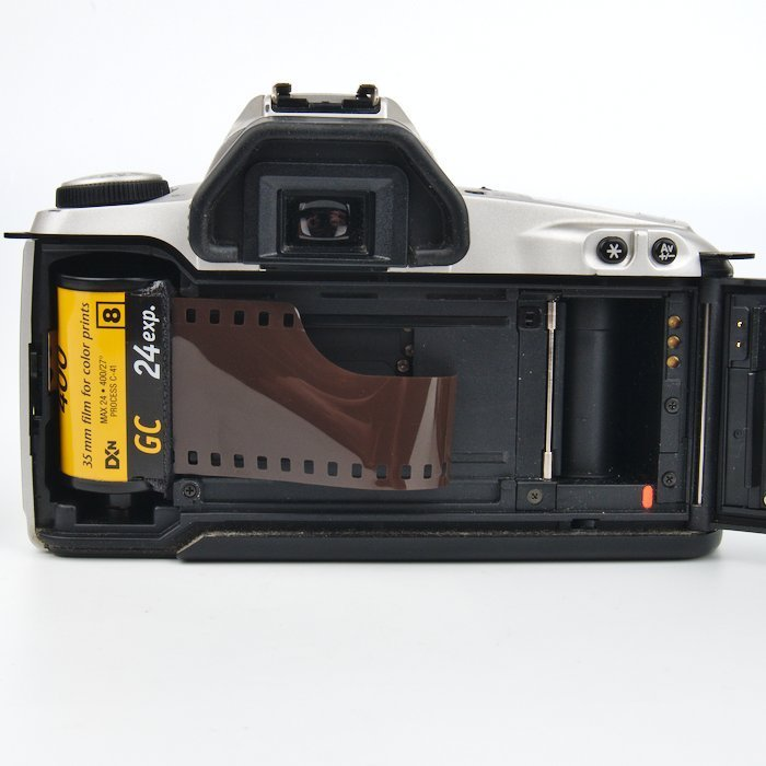 A 35mm Film Cartridge Loaded into the Camera.