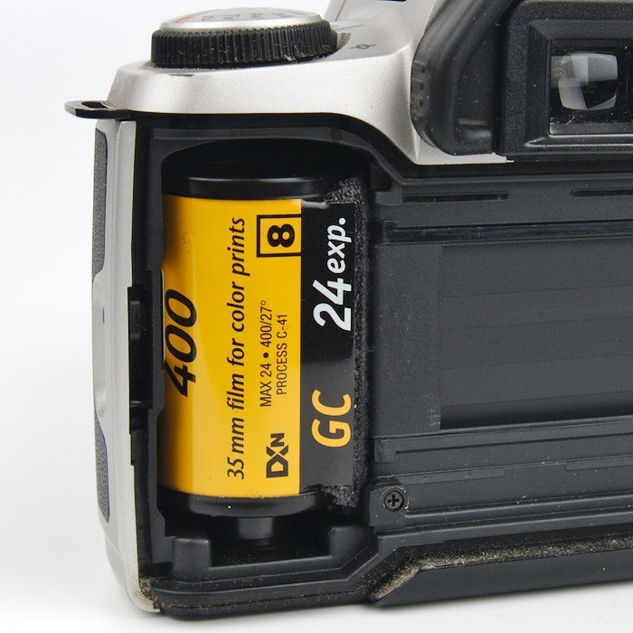 Film roll ready to be removed
