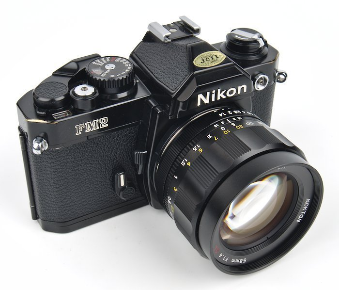 FM2 with Voigtlander 58mm f/1.4 Prime Lens great for photography