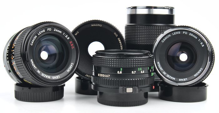 Best Canon F-1n 35mm Film Camera Lenses
