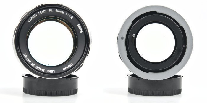 Front and Rear of a Canon FL Mount Lens