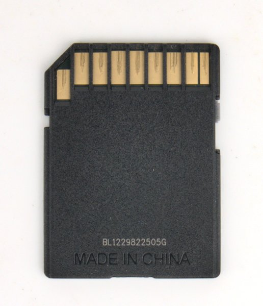 SD card contacts for Canon digital point and shoot camera