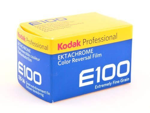 Box of Kodak Ektrachrome E100 Transparency Film