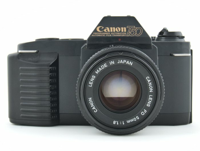 Canon T50 with 50mm f/1.8 Prime Kit Lens