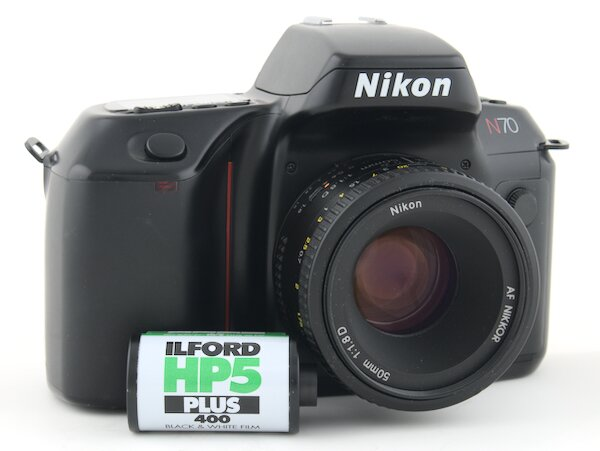 How to rewind and unload film from the Nikon N70
